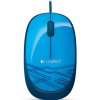 Logitech - M105 Corded Optical Mouse Blue